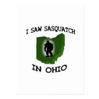 I Saw Sasquatch In Ohio Postcard