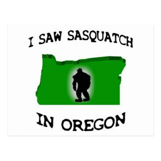 I Saw Sasquatch In Oregon Postcard