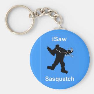 i Saw Sasquatch Music Keychain