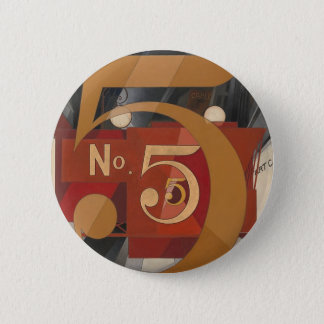 I Saw the Figure 5 in Gold Pinback Button