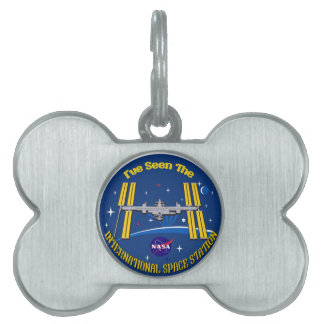 I Saw The ISS!! Pet Name Tag