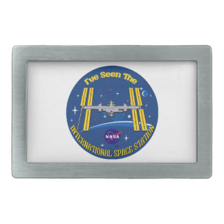 I Saw The ISS!! Rectangular Belt Buckle