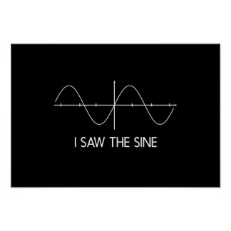 I Saw the Sine Poster