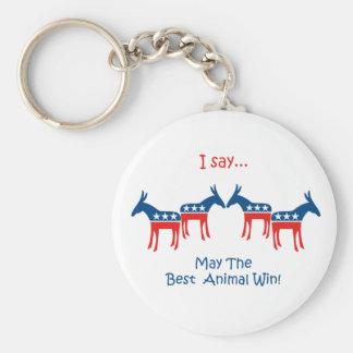 I Say... Democrat Keychain
