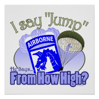 I Say Jump [18th Airborne] Poster