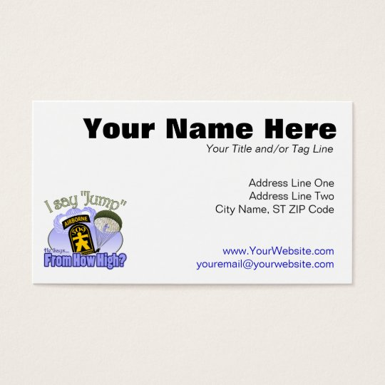 I Say Jump [509th PIR] Business Card