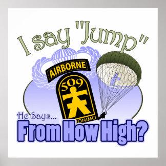 I Say Jump [509th PIR] Posters