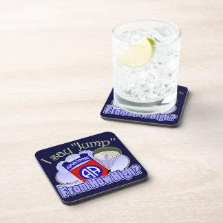 I Say Jump [82nd Airborne] Beverage Coasters
