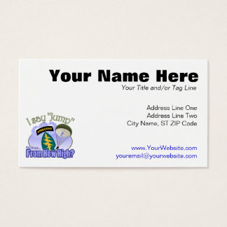 I Say Jump [Special Forces] Business Card
