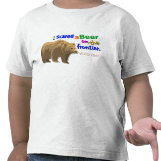 """I Scared a Bear on the Frontier"" Game T-Shirt"