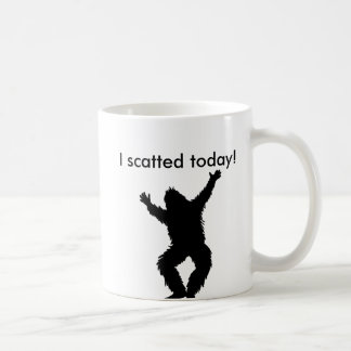 I Scatted (pooped) Today - Bigfoot Sasquatch Classic White Coffee Mug