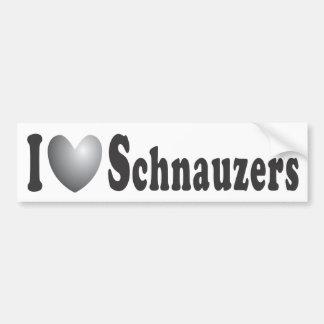 I Schnauzers del corazón - pegatina para el parach Pegatina Para Auto