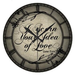 I Scorn Your Idea Of Love Large Clock
