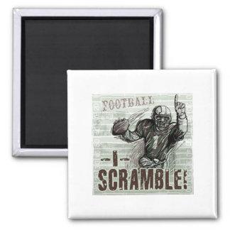 I Scramble! Quarterback Magnet