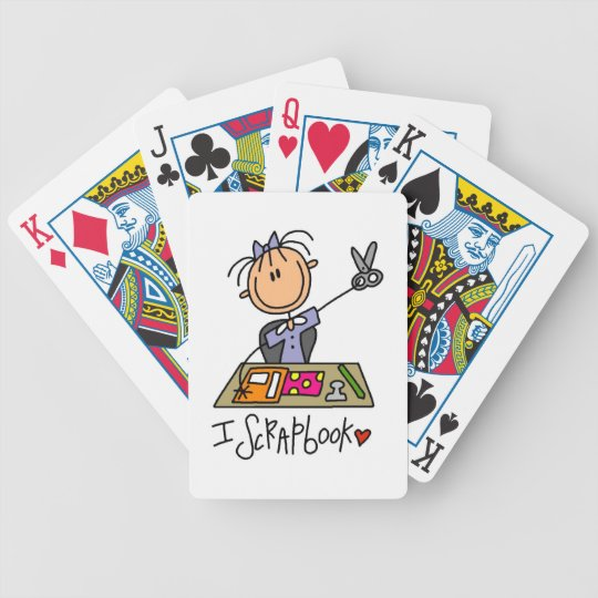 I Scrapbook Bicycle Playing Cards