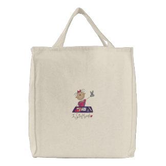 I Scrapbook Embroidered Tote Bag