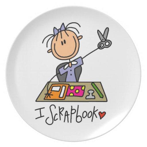 I Scrapbook Plate