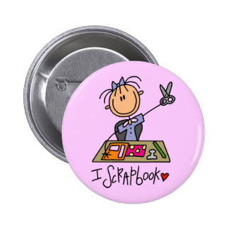 I Scrapbook Tshirts and Gifts Button