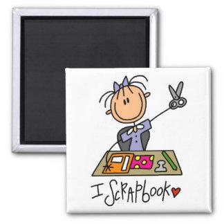 I Scrapbook Tshirts and Gifts Fridge Magnets