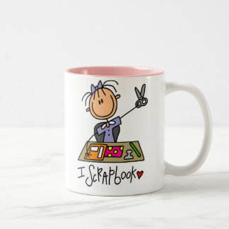 I Scrapbook Two-Tone Coffee Mug