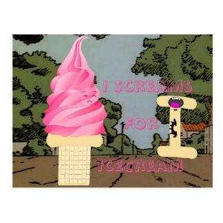 I Scream for Ice Cream Postcard