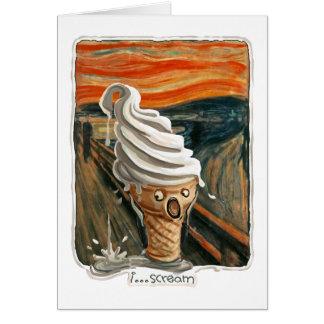 I Scream Ice cream Greeting Card