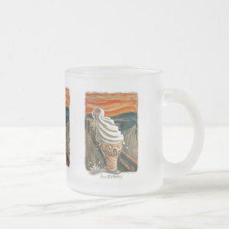 I Scream Ice cream Frosted Glass Coffee Mug
