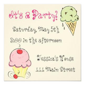 I Scream! no, Ice Cream! Invitations