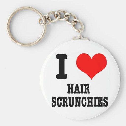 I scrunchies del pelo del CORAZÓN (AMOR) Llavero Personalizado