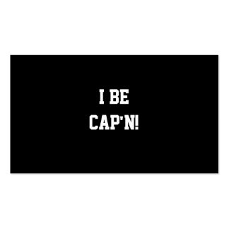 I sea Cap'n. Blanco y negro. Tarjetas De Visita