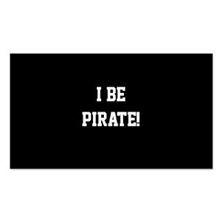 ¡I sea pirata! Blanco y negro. Texto intrépido Tarjetas De Visita