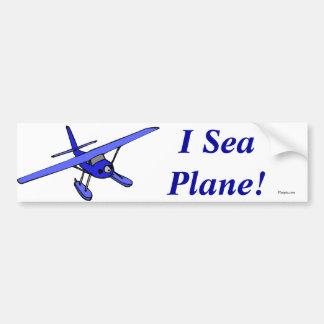 I Sea Plane!  Bumper Sticker (Blue)