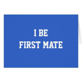 I sea primer compañero. Azul y blanco Tarjeta De Felicitación