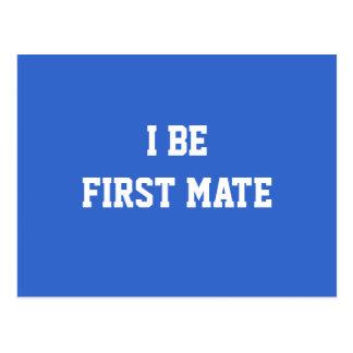 I sea primer compañero. Azul y blanco Tarjeta Postal
