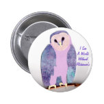 I See a World Owl 1a 2 Inch Round Button