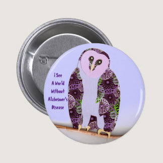 I See a World Owl 1b Pinback Button