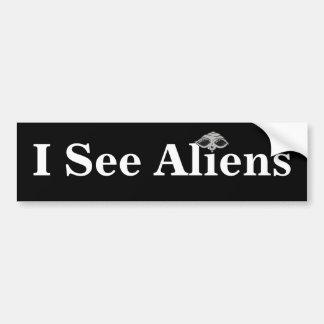 I See Aliens Bumper Sticker