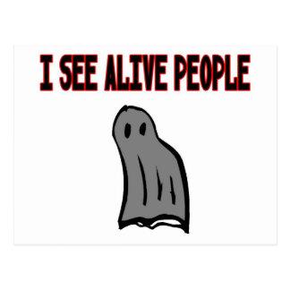 I See Alive People Postcard