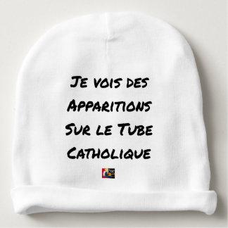 I SEE APPEARANCES ON THE CATHOLIC TUBE BABY BEANIE