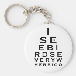 I See Birds Everywhere Basic Button Keychain