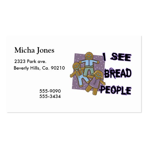 I See Bread People Double-Sided Standard Business Cards (Pack Of 100)