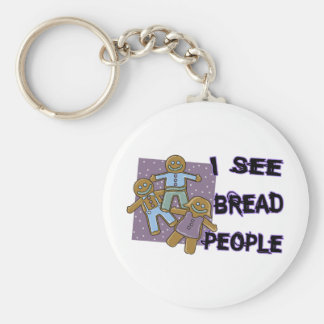 I See Bread People Keychain