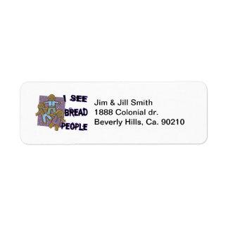 I See Bread People Return Address Label