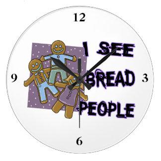 I See Bread People Large Clock