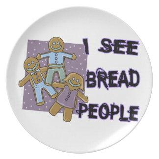 I See Bread People Melamine Plate