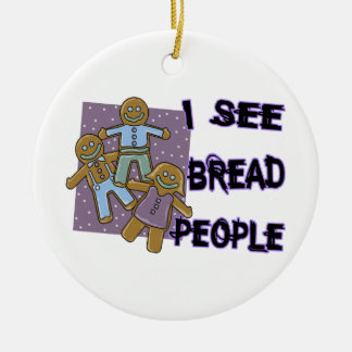 I See Bread People Christmas Tree Ornaments