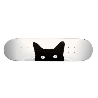 I See Cat Click to Pick Your Color Background Skateboard