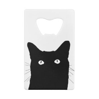I See Cat Click to Select a Custom Color Credit Card Bottle Opener