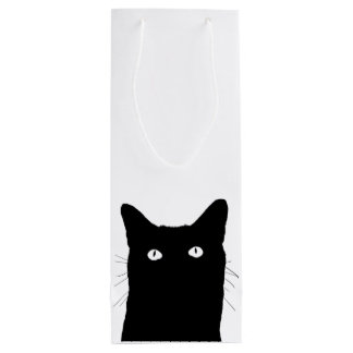I See Cat Click to Select a Custom Color Wine Gift Bag