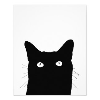 """I See Cat Click to Select Your Color Background 4.5"""" X 5.6"""" Flyer"""